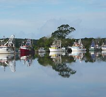 Reflections of the Jerseyville Fishing Fleet. by Mywildscapepics