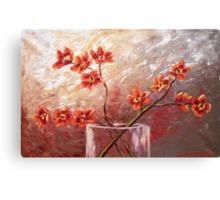 The Orange Orchids Canvas Print