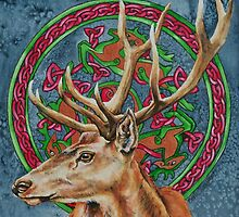 Celtic Stag by Beth Clark-McDonal