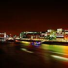 Tower Bridge Night Panorama by pixeljar