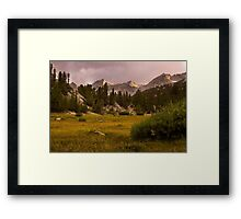 Meadows and Mountains Framed Print