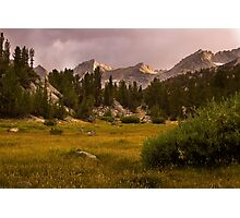 Meadows and Mountains Photographic Print