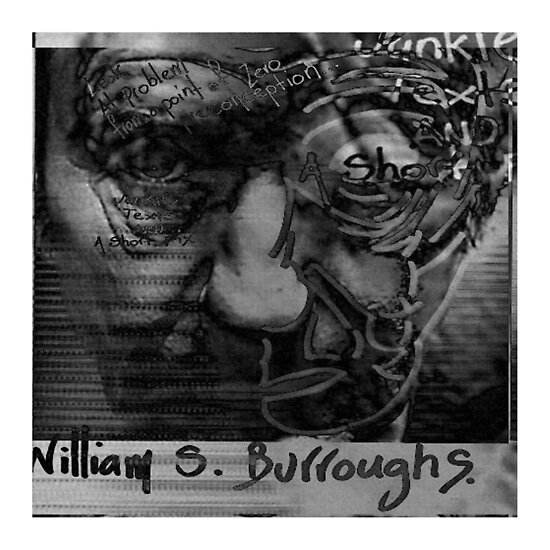 """William S. Burroughs - Cerebral Superhero #07"" by Kirrill D'Kainn"