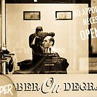 Barber on Degraves by Bec  Brindley