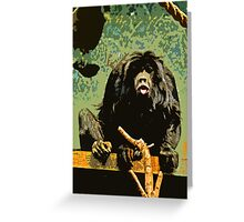 Cheeky Monkey Cut-Out, 70's Style Greeting Card
