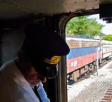 Conductor At The Rear Car - Naugatucket RR © 2009 by Jack McCabe