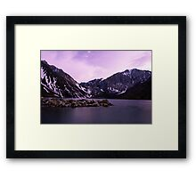 Dusk at Convict Lake Framed Print