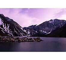 Dusk at Convict Lake Photographic Print