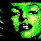 Marilyn Monroe in Green 002 by Greg Allen