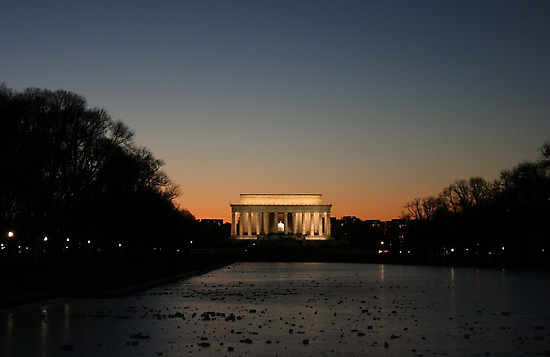 Lincoln Monument in Washington, D. C. by Susan Russell