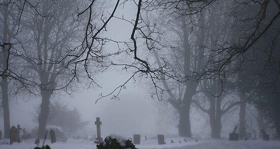 A misty churchyard by Gemma  Simpson