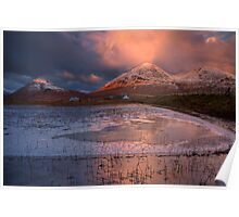 The Red Hills in Winter Light. Isle of Skye, Scotland. Poster
