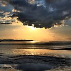 Dramatic skies over the mudflats by Nick Barker