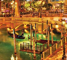 Vegas - Venetian - The Venetian at night by Mike  Savad