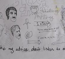 Doodles 5. ( Take my advice don't listen to me ) by Richard  Tuvey