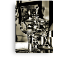 Glass and Pewter Canvas Print