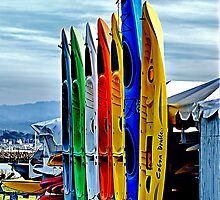 Kayaks II by Bob Wall