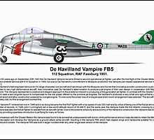 De havilland Vampire FB5 Profile by coldwarwarrior