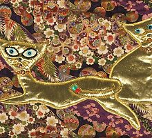 Courting cats by Ilze Coombe