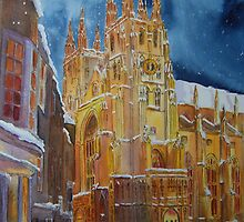 Christmas in Canterbury - Kent- UK by Beatrice Cloake Pasquier