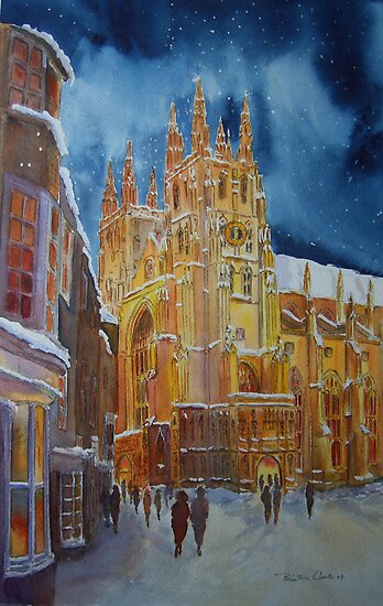 Christmas in Canterbury - Kent- UK by Beatrice Cloake