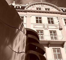 Architects Reflection - Aarhus by Carolyn Maitland