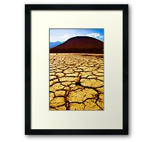 Playa and Cinder Cone Framed Print
