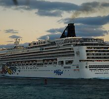 Cruise ship in Miami by julie08