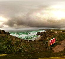 Carnewas, cornwall, cliffs and moody skies and seas by itsrich