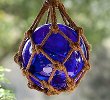 Blue Glass Fishing Net Ball/Bouy by ConDigital