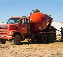 Concrete Truck by Julia Harwood