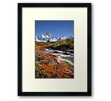 Fitz Roy in the Autumn Framed Print