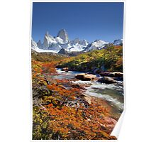 Fitz Roy in the Autumn Poster