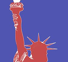Statue of Liberty Outline (Pop Art style) by miketv