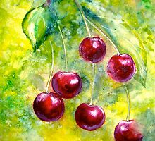 "Cherries...""Left Hangin"" by © Janis Zroback"