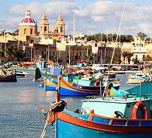 Fishing boats of Malta by zumi