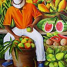 Manuel the Caribbean Fruit Vendor by Dominica Alcantara