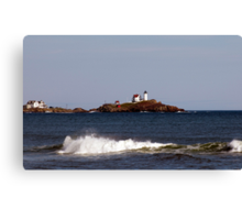 Nubble Lighthouse in the Distance Canvas Print
