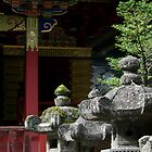 Stone Lanterns at Tosho-gu Shrine by Jennifer Chan