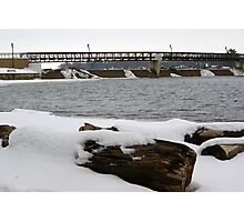 Sinnissippi Dam Photographic Print