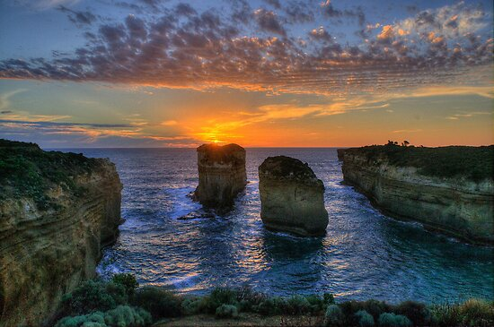 Sunset Tango - Twelve Apostles, Great Ocean Road - The HDR Experience by Philip Johnson