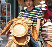 Vietnamese Hat Sales by ellanewbury