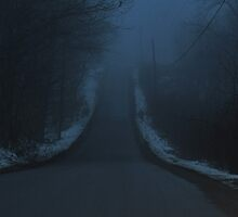 Up the hill into the fog by mltrue