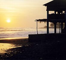 Sunset on a Beach in El Salvador by Lyccid