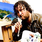 Self-Portrait - Me.... the frustrated painter (final competition entrance) by Mark Elshout