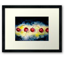 Cherries...The Line-Up Framed Print