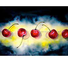 Cherries...The Line-Up Photographic Print