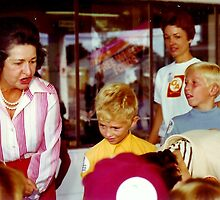 Lady Bird Johnson with 2 of Our Sons by Elaine Bawden