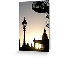 Dusk in Westminster Greeting Card