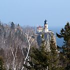 Split Rock Light House and Birches by pshootermike
